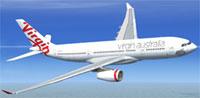 Screenshot of Virgin Australia Airlines Airbus A330-200 in flight.
