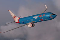 Screenshot of Virgin Blue Boeing 737-800 in flight.