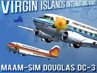 Poster image showing both Virgin Islands International Airways repaints contained in this pack.