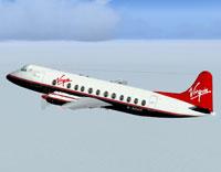 Screenshot of Virgin Viscount 802 in flight.