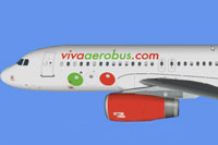 Side profile of Viva AeroBus Airbus.