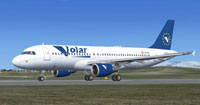 Screenshot of Volar Airlines Airbus A320-214 on runway.