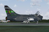Screenshot of A-7 Corsair II 180th TFG on the ground.