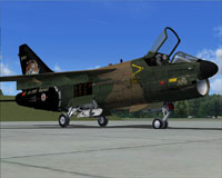 Screenshot of Vought A-7 Corsair II on the ground.