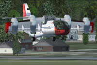 Screenshot of Vought Ryan LTV CX-142 in vertical take-off.