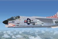 Screenshot of Vought V-8 Crusader in flight.