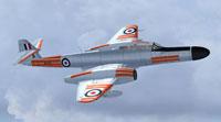 Screenshot of RAF Meteor NF14 in flight.