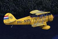 Screenshot of Waco YMF-5 in flight.