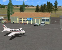 Screenshot of Wairoa Airport scenery.