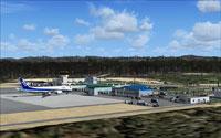 Screenshot of Wakkanai Airport and the surrounding scenery.