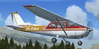 Screenshot of Wanganui Aeroclub Cessna 172 in the air.