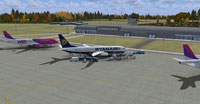 Screenshot of Warszawa Modlin Airport scenery.