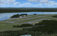 Screenshot of Watson Lake Airport scenery.