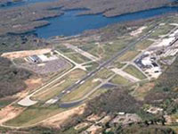 Aerial photo of Westchester County Airport.