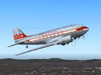 Screenshot of Western Air Lines Douglas DC-3 in flight.