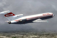 Screenshot of Western Airline Boeing 727-200 OC in flight.