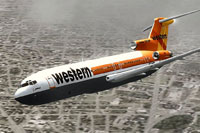 Screenshot of Western Airline Boeing 727-200 Special in flight.