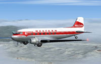 Screenshot of Western Airlines Douglas DC-3 in flight.