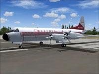 Screenshot of Western Airlines Lockheed L-188 on runway.