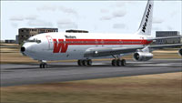 Screenshot of Western Boeing 707 N1503W on runway.