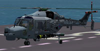 Screenshot of Westland Future Lynx idle on a carrier.