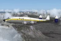 Screenshot of Wien Alaska Airlines L-749 in flight.