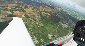 Wing-tip view.
