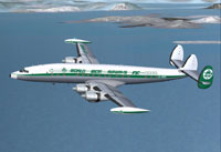 Screenshot of World Wide Lockheed L-1049G in flight.
