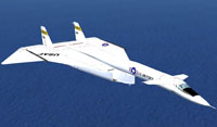 Screenshot of XB-70 in flight.