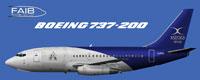 Profile view of Xstrata Nickel Boeing 737-200.