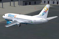 Screenshot of Bahamasair Boeing 737-500 on the ground.