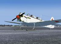 """Screenshot of Yak-18 Ski """"Whitewash"""" on the ground."""