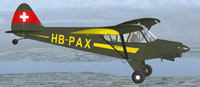 Screenshot of Yverdon Piper Super Cub in the air.