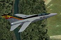 Screenshot of 75th Anniversary Tornado in flight.