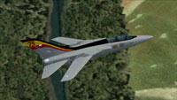 Screenshot of 29 Sqn 75th Anniversary Tornado in flight.