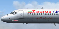 Profile view of Zagros Air McDonnell Douglas MD-82.