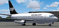 Screenshot of Zip Air Boeing 737-200 on the ground.