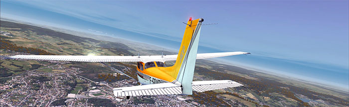 Yellow Cessna Skyhawk 172 by A2A Simulations