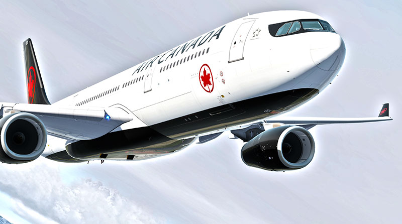 A330 Professional artwork from P3Dv5.