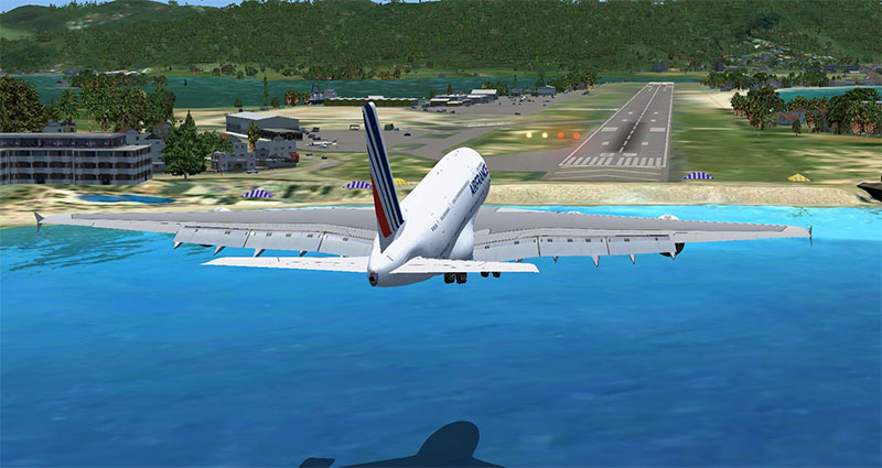 A380 approaching Princess Juliana International Airport (St. Martin)