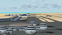 Abu Dhabi International Airport Scenery.