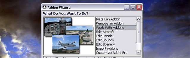 Addon Wizard: What do you want to do?  Read more: https://flyawaysimulation.com/news/4495/top-10-must-have-freeware-fsx-add-ons/#ixzz2KO843UOl