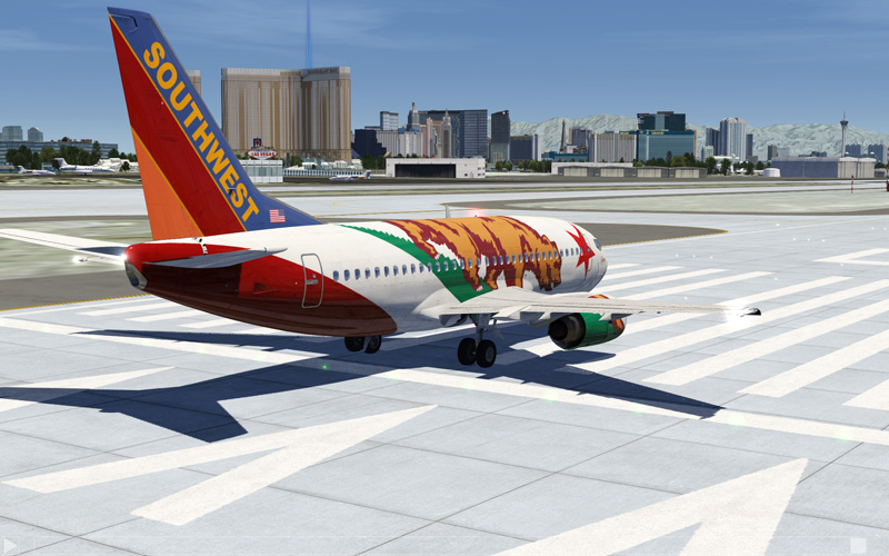 Southwest aircraft on runway.