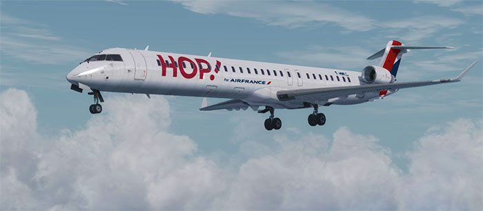 Air France HOP! CRJ in flight.