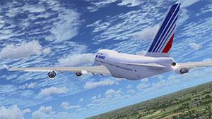AF 747 just after takeoff