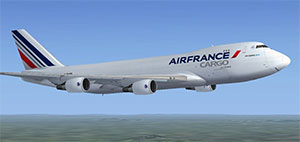 Air France cargo aircraft in flight