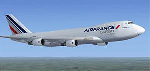Air France cargo aircraft in flight