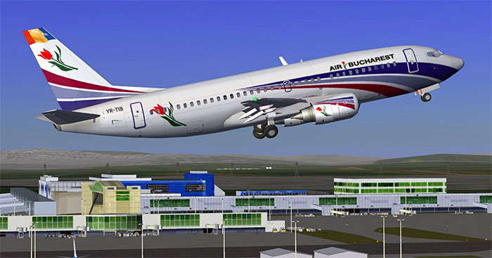 Air Bucharest 737 in FlightGear
