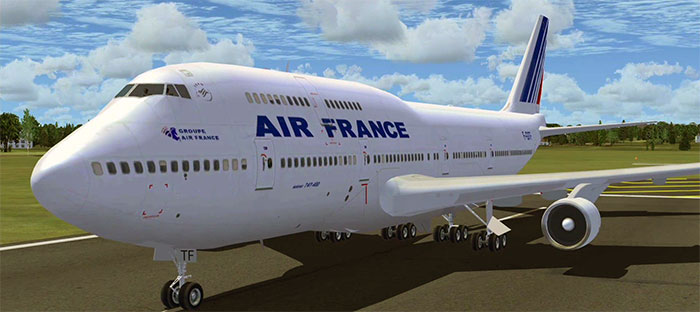 747 in Air France livery
