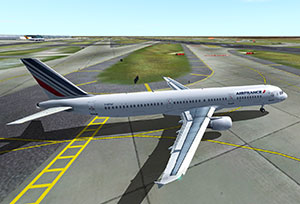 An Air France Airbus A321 based on the iFDG model for FS2004.